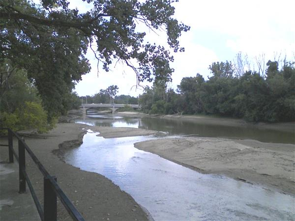 Section of the St. Joe River in drought season